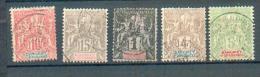 DAH 259 - YT 2-3-6-8-9 Obli - Dahome (1899-1944)