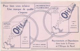 Lampes OFLE/Pour Bien Vous éclairer.../Représentants Et Dépositaires //Vers 1950       BUV258 - Electricity & Gas