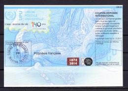 8102 IAS IRC Coupon Reponse International Tahiti Polynesie Francaise T38 Gest. PF20140730AA