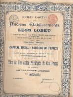 Anc. Ets Léon Lobet - Verviers - Actions & Titres