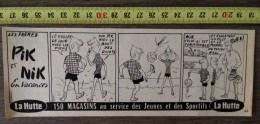 PUB PUBLICITE LA HUTTE STRIP LES FRERES PIK ET NIK EN VACANCES LE VOLLEY BALL - Old Paper