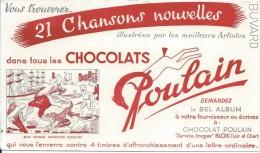 Chocolats Poulain/Chansons Nouvelles/Bon Voyage Monsieur Dumollet/BLOIS/Loir & Cher/Vers 1950       BUV254 - Cocoa & Chocolat