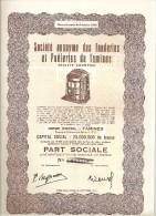 S.A. Des Fonderies Et Poêleries De Tamines - Actions & Titres