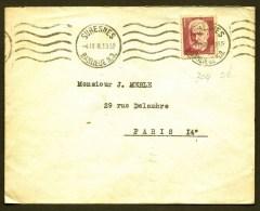 LETTRE ANCIENNE FRANCE- TIMBRE N°304 SEUL SUR LETTRE CAD MÉCANIQUE 1938 - - 1921-1960: Modern Period