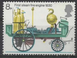GREAT BRITAIN 1974 Bicentenary Of Fire Prevention (Metropolis) Act -  8p. - First Steam Fire-engine, 1830  MH - 1952-.... (Elizabeth II)