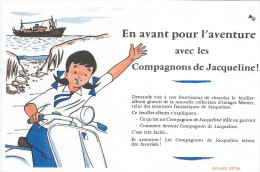 Chocolats Fins MENIER/en Avant Pour L'aventure Avec Les Compagnons De Jacqueline/ NOISIEL/Vers 1955       BUV265 - Cocoa & Chocolat