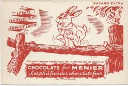 Chocolats Fins MENIER/Le Chat La Belette Et Le Petit Lapin/ NOISIEL/Vers 1955       BUV268 - Chocolat