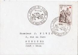 FR-L48 - FRANCE N° 1141 Croix-Rouge Sur Lettre Obl. Journée Du Timbre Thann 1958 - Lettres & Documents