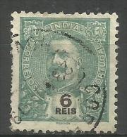 Portuguese India - 1902 King Carlos 6r Used  Sc  205 - Portuguese India
