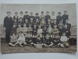 95 SANNOIS CARTE PHOTO ECOLE DES GARCONS 3 EME CLASSE  LE 6 JUILLET 1925 - Sannois