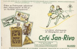 Café San-Rivo / Chambre Syndicale Française De La Philatélie /Balestre /Vers 1955       BUV267 - Coffee & Tea