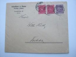 1923 ,  VERDEN       Firmenlochung , Perfin , Beleg Mit 1 Marke Mit Lochung - Briefe U. Dokumente