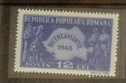 Romania, 1948, Census, MNH - Unused Stamps