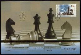Schach Chess Ajedrez échecs - Gold FDC - Norwegen Norway 2014 - MiNr 1862 - Schach