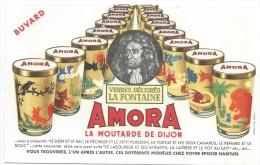 AMORA/La Moutarde De Dijon /Verres Décorés La Fontaine /Vers 1955       BUV264 - Moutardes
