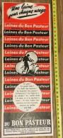 PUB PUBLICITE 1950/1960 LAINES DU BON PASTEUR FILATURES SAINT ST EPIN - Vecchi Documenti