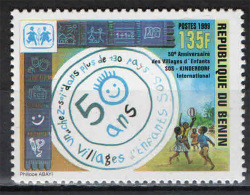 BENIN - 1999 - 50° ANNIVERSARIO DEI VILLAGGI PER I RAGAZZI AFRICANI - USATO - Benin - Dahomey (1960-...)