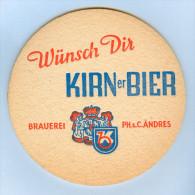 Bierdeckel Deutschland Kirn Kirner Bier Privatbrauerei PH & C. Andres Bierfilz Germany Allemagne Alemania Beermat Birra - Sous-bocks