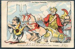 'La Patrie Francaise' Rome Satire Satirique Postcard - Humour