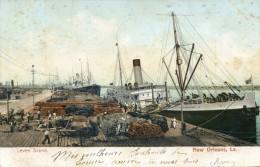 New Orlean - Levee Scene - Scan Recto Verso - Etats-Unis