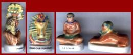 Lot De 4 FÈVES - EGYPTE - PHARAON - SPHYNX - SCRIBE - Countries