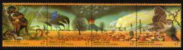 UNO WIEN 1993 ** Klimaveränderung Durch Umweltverschmutzung / Eule, Affen - 4er Streifen MNH - Umweltschutz Und Klima