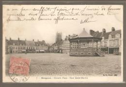 BERGUES GRANDE PLACE TOUR SAINT MARTIN KIOSQUE - Bergues