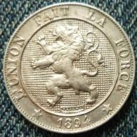 5 CENTIMES 1894 LEOPOLD II ROI DES BELGES L´UNION FAIT LA FORCE - 1865-1909: Leopold II