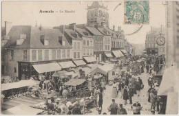 CPA 76 AUMALE Le Marché Commerces Animation 1905 - Aumale