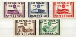 Österreich 1955 Mi 1012-1016 * [131215XV] - 1945-60 Neufs