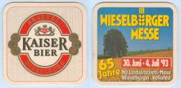 Bierdeckel Österreich Brauerei Wieselburg Kaiser Bier Wieselburger Messe 1993 NÖ Niederösterreich Austria Autriche Beer - Sous-bocks