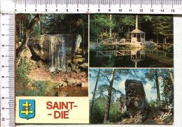 SAINT  DIE    -  3  Vues    -  Les  Promenades,  La  Cascade  Des   Molières,  Le  Kiosque,  La  Rochei  Saint  Martin - Saint Die