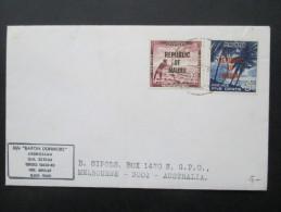 Ozeanien Nauru / Republic Of Nauru. Brief Mit 2 Marken! Baron Dunmore Nach Melbourne - Nauru