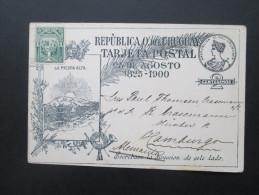 Republica O. Del Urugay Ganzsache / Stationary 1900. La Piedra Alta. 1825 - 1900 Mit Zusatzfrankatur Nach Deutschland! - Uruguay
