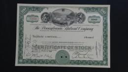 USA - Pennsylvania Railroad Company - Nr:T120139 / 1961 - 100 Shares - Look Scans - Chemin De Fer & Tramway