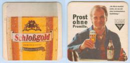 """Bierdeckel Österreich Schloßgold Alkoholfrei Schauspieler Wolfgang Fierek """"Prost Ohne Promille"""" Testimonial Austria Beer - Sous-bocks"""