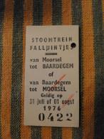 Moorsel : Treinkaartje Leireken 1976 Tssen Moorsel En Baardegem - Unclassified