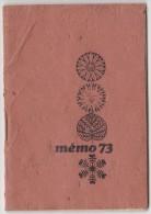 Mémo 1973 - Charcuterie Des Gourmets J. Dugenest - Calendriers