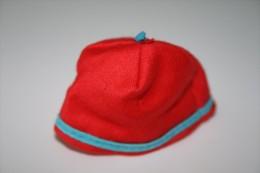 Barbie Accesoires ´50-´60 - RED COTTON HAT  - Original Vintage Barbie - Ken - Ricky - Skipper - Barbie