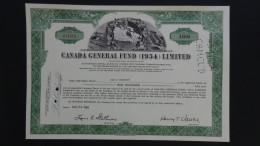 Canada - Canada General Fund Ltd. - Nr:A14319 / 1954 - 100 Shares - Look Scans - Ohne Zuordnung