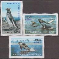 Antarctic.Chil 2000i.Penquins.Whales.Michel.1960-62.MNH 22130 - Stamps