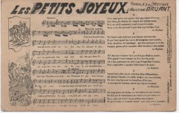 CPA CHANSONS   LES PETITS JOYEUX PAROLES ET MUSIQUE D'ARISTIDE BRUANT - Musica