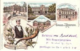 ROSTOCK Studentika Gaudeamus Igitur Juvenes Dum Sumus! Universität Kliniken Color Litho Sammlerstempel P Giebel 1898 - Rostock