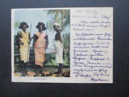 AK 1902 Aden. Somali Soldiers. Eingebohrene / Krieger. Afrika / Asien. Indien Stamp!! Interessante Karte!! - Asie