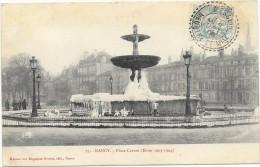 NANCY  (cpa 54)  Place Carnot (hiver 1903/1904) Fontaine Gelée  - - Nancy