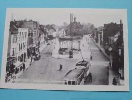 Dorpsplaats En Gemeentehuis HOBOKEN ( Copie Kaart Verzameling Districtshuis ) Anno 19?? ( Zie Foto Voor Details ) !! - België