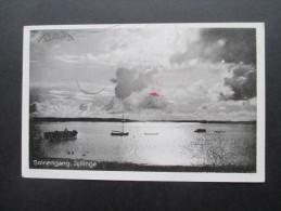 AK Dänemark 1940 Zensur Der Wehrmacht! Solnedgang Jyllinge. Roskilde - Cartas