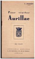 PLAQUETTE Pour Visiter Aurillac 1936 (PPP1836) - Guides Touristiques
