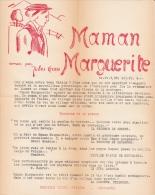 Valais - Publicité Pour Le Roman De Jules Gross Maman Marguerite, ça 1935, 1 F. 27 / 21,5 Cm, Bichromie - Publicités