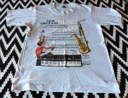 T´Shirt New Orleans. Music Jazz Rock Classical Rhythm & Blues.  Neuf, Non Utilisé.   Size  M - Historische Bekleidung & Wäsche